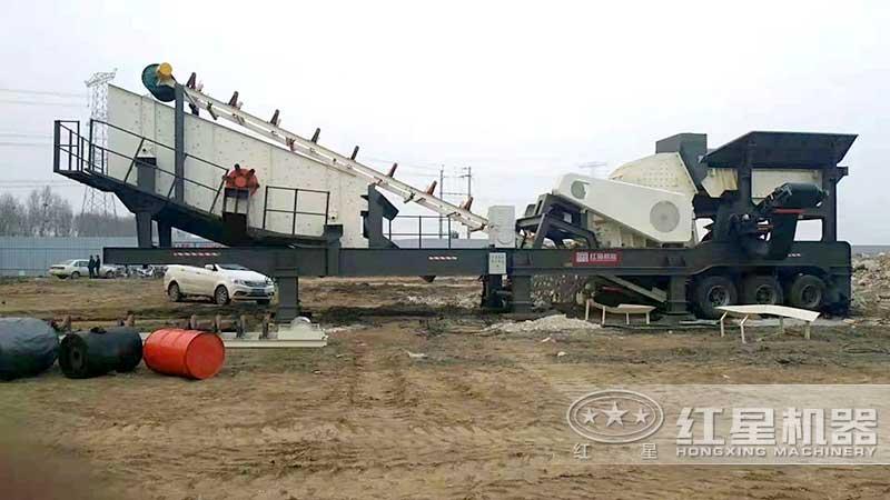 移动锤式粉煤机安装现场